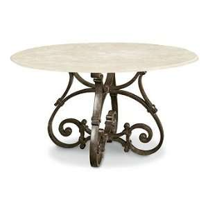Stone top Round Outdoor Dining Table   Frontgate, Patio Furniture
