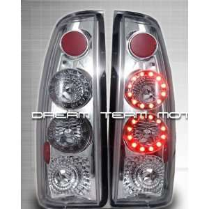 Chevy Silverado Led Tail Lights Chrome LED Altezza Taillights 1988