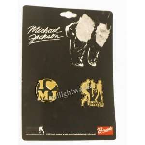 Michael Jackson Dancing Trio Pin and 1 heart MJ Pin