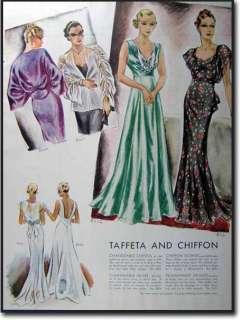 1935 ART DECO FASHION PRINTS DES VIGNES & ROTHSCHILD