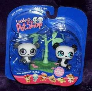 LITTLEST PET SHOP TWIN PANDAS 89 90 VERY RARE RETIRED