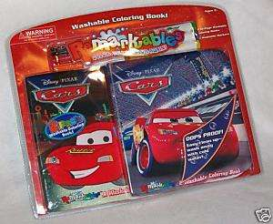 Disney Cars 2 pack Remarkables washable coloring book