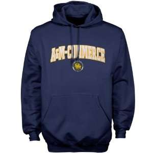 NCAA Texas A & M Commerce Lions Navy Blue Player Pro Arch Hoody