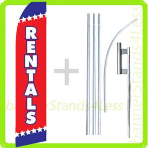 Feather Flutter Tall Banner Sign Flag 15 Kit   RENTALS