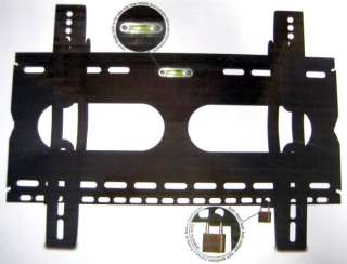 LCD PLASMA 30 42 TV WALL MOUNT BRACKET + LEVEL & LOCK