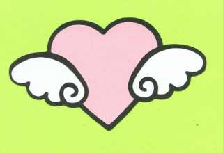 New Cricut Hello Kitty Heart with Wings Die Cut Pink