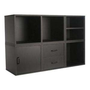 New Wood Cube Storage System Unit in Black   45 x 30
