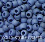 MATTE/FLAT DENIM 9x6mm Pony Beads crafts 500pc