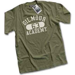 Gilmour Academy 63   Mens Khaki Pink David Floyd T Shirt NEW   Khaki