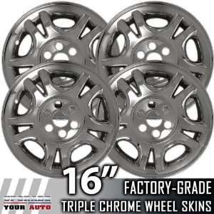 01 03 DODGE DURANGO 16 Chrome Wheel Skin Covers Automotive