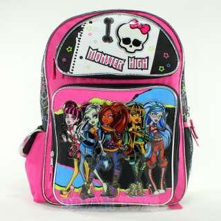 Monster High Notebook 16 Large Backpack   Book Bag Girls Frankie