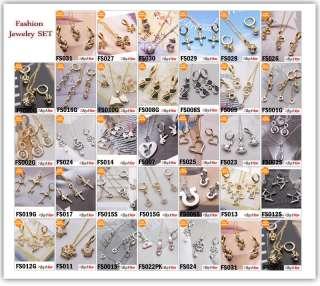 14K GOLD GP Hot Snake Fashion Necklace Earrings sets