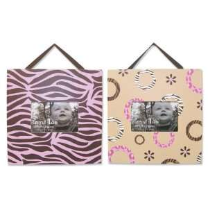 Sweet Safari Pink Nursery Baby Bedding Picture Frame Set Baby