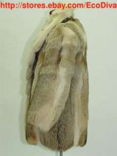 5000 mans mens CANADIAN ARCTIC WOLF COYOTE FUR COAT JACKET MD