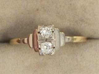 EDWARDIAN 18CT GOLD PLATINUM DIAMOND RING