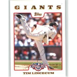 Tim Lincecum   San Francisco Giants (Serial #d to 2199) (Baseball