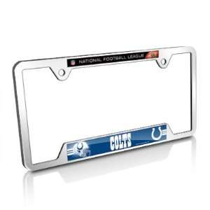 NFL Indianapolis Colts Chrome Metal License Frame