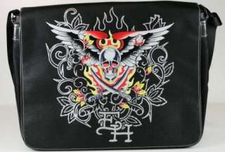 Ed Hardy Mens PAPEETE Messenger Bag Black ROPAP6504