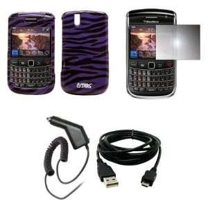 EMPIRE Purple and Black Zebra Design Hard Case Cover + Mirror Screen