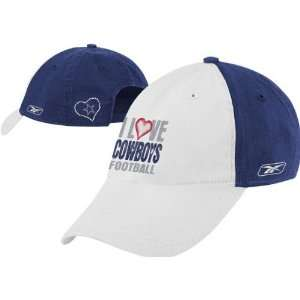 Dallas Cowboys Womens I Love Slouch Hat: Sports
