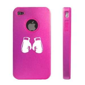 iPhone 4 4S 4G Hot Pink D290 Aluminum & Silicone Case Boxing Gloves