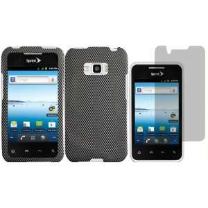 Carbon Fiber Design Hard Case Cover+LCD Screen Protector