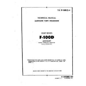 North American Aviation F 100 D Aircraft Parts Manual