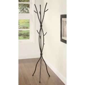 Metal Coat Rack Entryway Hall Stand With Three Hooks In