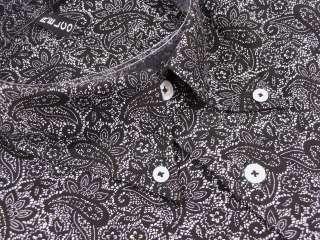 Mens Long Sleeved Relco Paisley Shirt Mod Retro 2 Cols