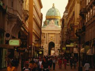 Kohlmarkt Leading to St. Michaels Dome, Vienna, Austria Photographic