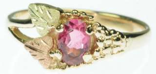 LADIES 10K SOLID YELLOW ROSE GOLD PINK TOURMALINE ESTATE RING J214141