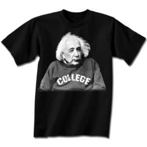ALBERT EINSTEIN College T Shirt **NEW