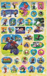 Super Mario Bros Birthday Party Card 190 Stickers Book
