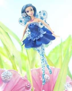 Barbie Fairytopia Azura Blue Fairy Doll incl Fashion Dress Shoes Wings