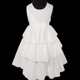 KD214 Beautiful Ivory Baby Girl Flowers Lace Dress 1 4T