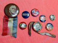 US ROOSEVELT WALLACE POLITICAL PRESIDENTIAL CAMPAIGN PIN BADGE BUTTON