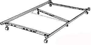 QUEEN SIZE I 50 METAL BED FRAME !!!