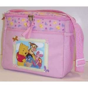 Disney Pooh and Friends Pink Flowers Diaper Bag Baby