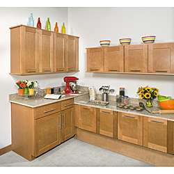 Honey Stained 24 inch Wall Blind Corner Kitchen Cabinet