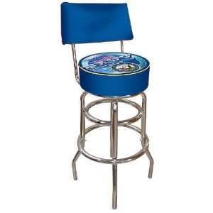 United States Navy Padded Bar Stool with Back Electronics