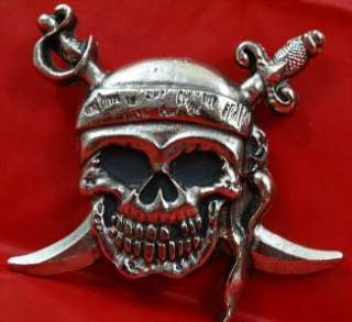 NEW ROCK REBEL Belt Buckle PIRATE SKULL Crossed Swords