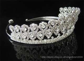 Wedding/Bridal crystal veil tiara crown headband CR069