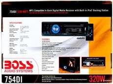 Boss 754DI Single Din Car /USB/SD Car Digital Media Receiver W/IPOD