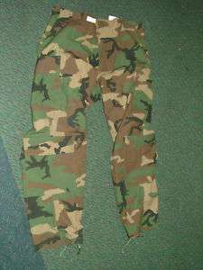 US MILITARY CLASS 1 ABDU NOMEX BDU PANTS AIRCREW WOODLAND CAMO XL SH