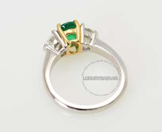 Martin Flyer 18K White & Yellow Gold Diamond & Emerald Ring