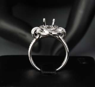 HEAVY 6 6.5mm ROUND CUT 14K WHITE GOLD .65ct DIAMOND Engagement Semi