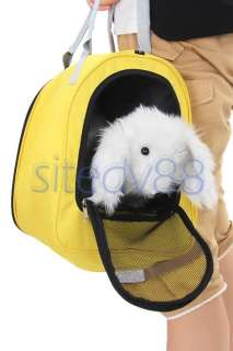 Yellow Pet Carrier Cat Dog Bag Crate Cage Kennel Shopping Travel