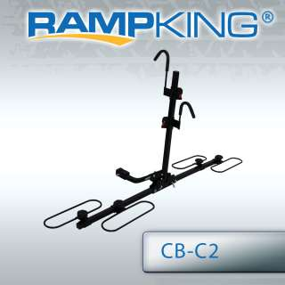 RAMP KING 2 BIKE WHEEL CRADLE HITCH CARRIER BICYCLE RACK FITS 1.25