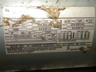 Emerson Electric LR22132 Vacuum Pump 1725 RPM 3/4 HP