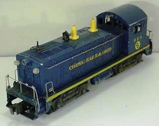 LIONEL O GAUGE No. 624 CHESAPEAKE & OHIO C&O NW2 SWITCHER ENGINE